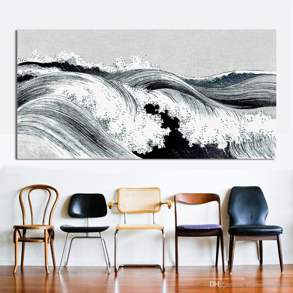 2018 Abstract Oil Painting Great Wave Canvas Art Wall Pictures For ...