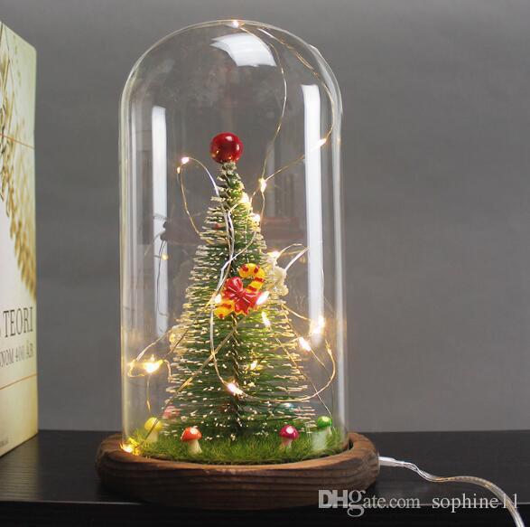 Navidad Lámpara Decorativa Mesa Usb Luz De Cristal Boda Interior Decoración Festival Iluminación Pantalla Led mnNyOv80w