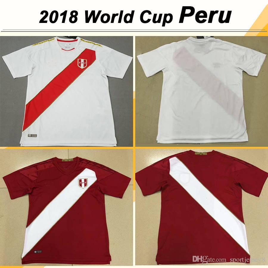 2019 2018 World Cup FARFAN FLORES Soccer Jersey HURTADO RUIDIAZ Football Jerseys  Peru National Team CARRILLO CUEVA Home Away Shirts Mens Uniforms From ... 56eaa35c3