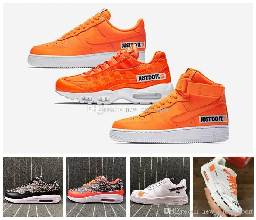 low priced e5ac4 07175 Acquista 2018 Men Women Low Forces 87 95 Just Do It Air Orange One Maxes  Scarpe Da Corsa Da Uomo 1s Classic Chaussures Designer Zapatos Trainers A   75.38 ...