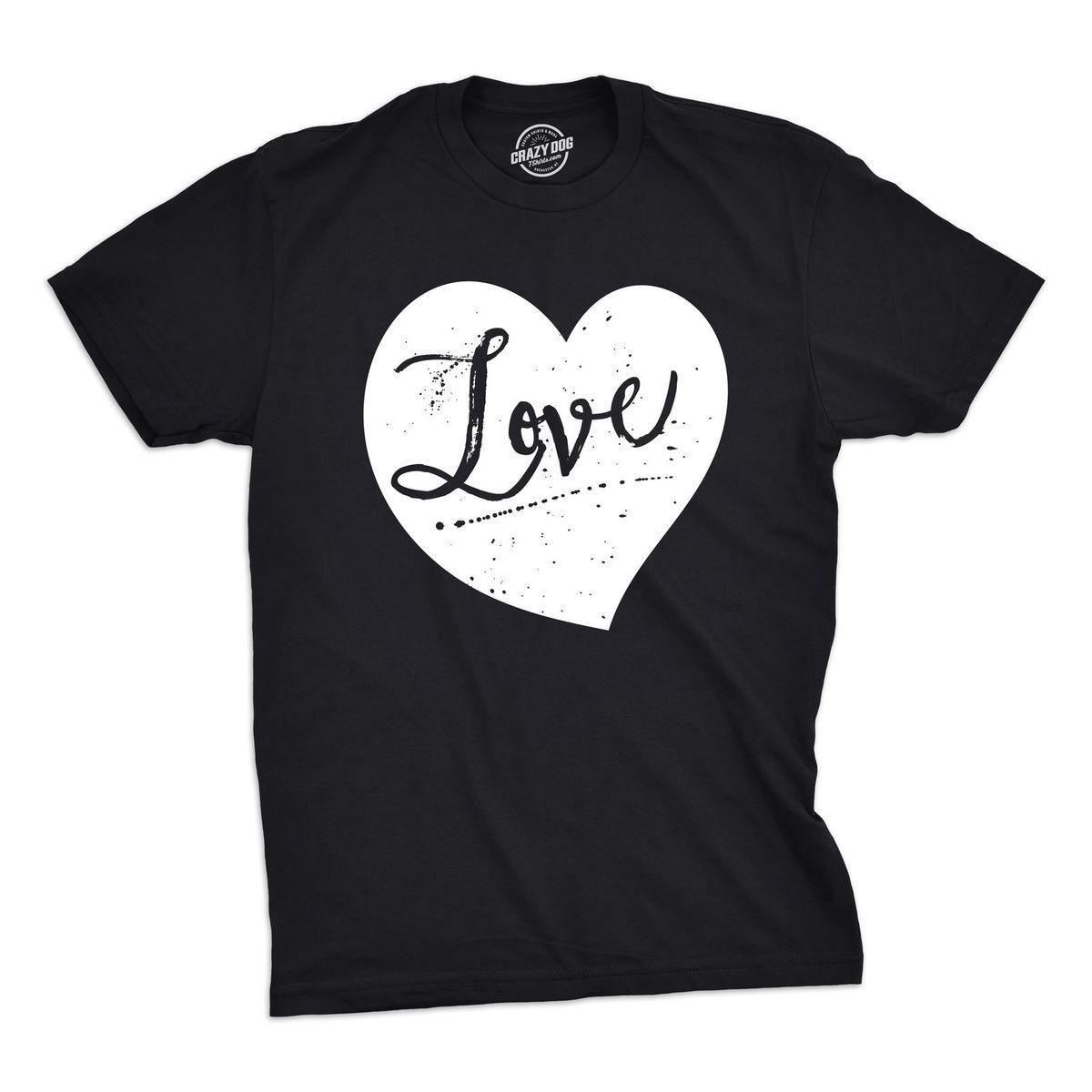 Mens Love Heart Tshirt Cute Adorable Valentines Day Cupid Tee For
