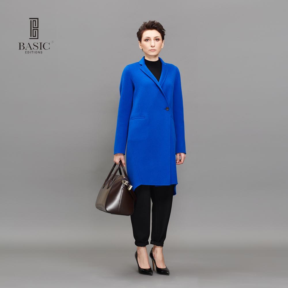 Bleu Automne Laine Hiver Manteau Femmes ÉDITIONS Acheter DE BASE Ywq0Afa