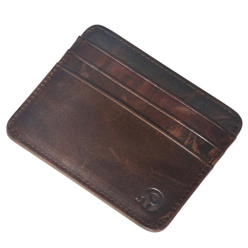 Swdf Luxury Cow Leather Card Holder Passport Cover Unisex Slim