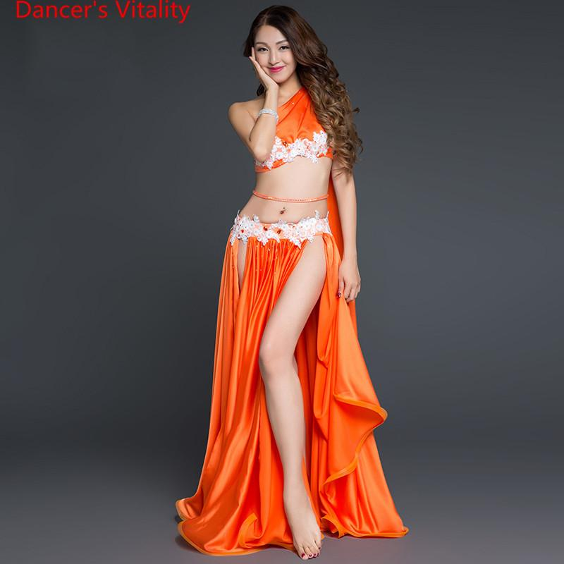2019 2018 New Arrival Belly Dance Long Skirt Set Sexy Dancer Practice  Costume Set Purple White Red From Keviny 5165d379f506