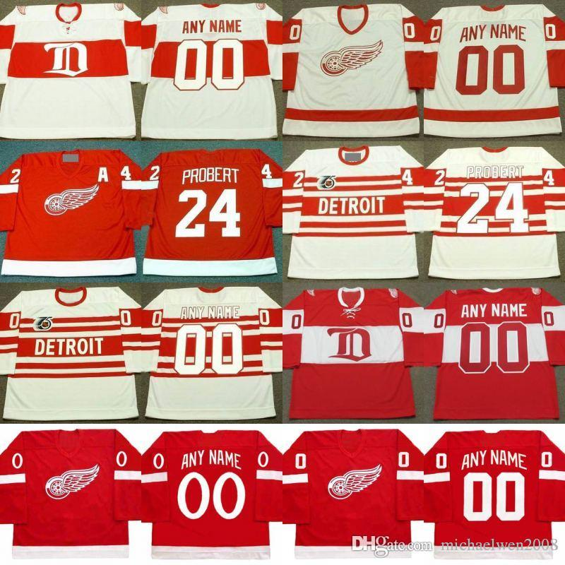 2019 24 Bob Probert Jersey Detroit Red Wings Vintage Hockey Jerseys  Personalized Customized With Any Name Any Number Jerseys From  Michaelwen2008 4ddb72295