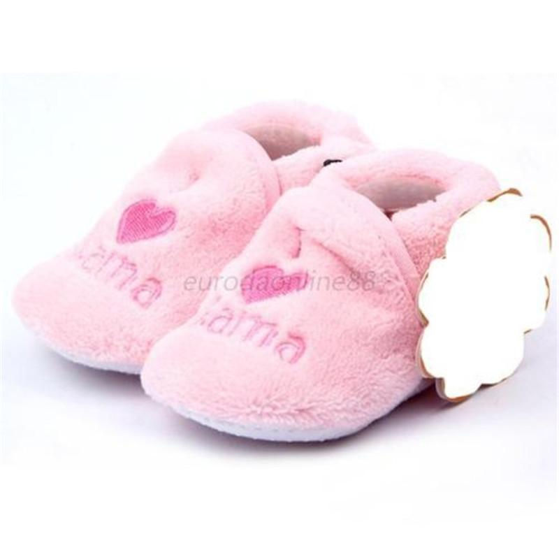 f07ef0486fcb1 Baby First Walker Girl Boy Coral Fleece Booties Socks Shoes Slippers  Newborn Toddler 0-12M New