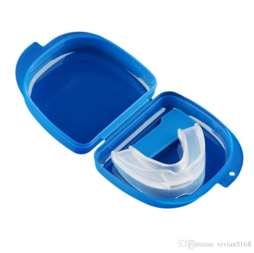 Silicone Stop Snoring Anti Snore Mouthpiece Apnea Guard Bruxism Tray Mouthguard Health Sleeping Health Care Tool with box gift