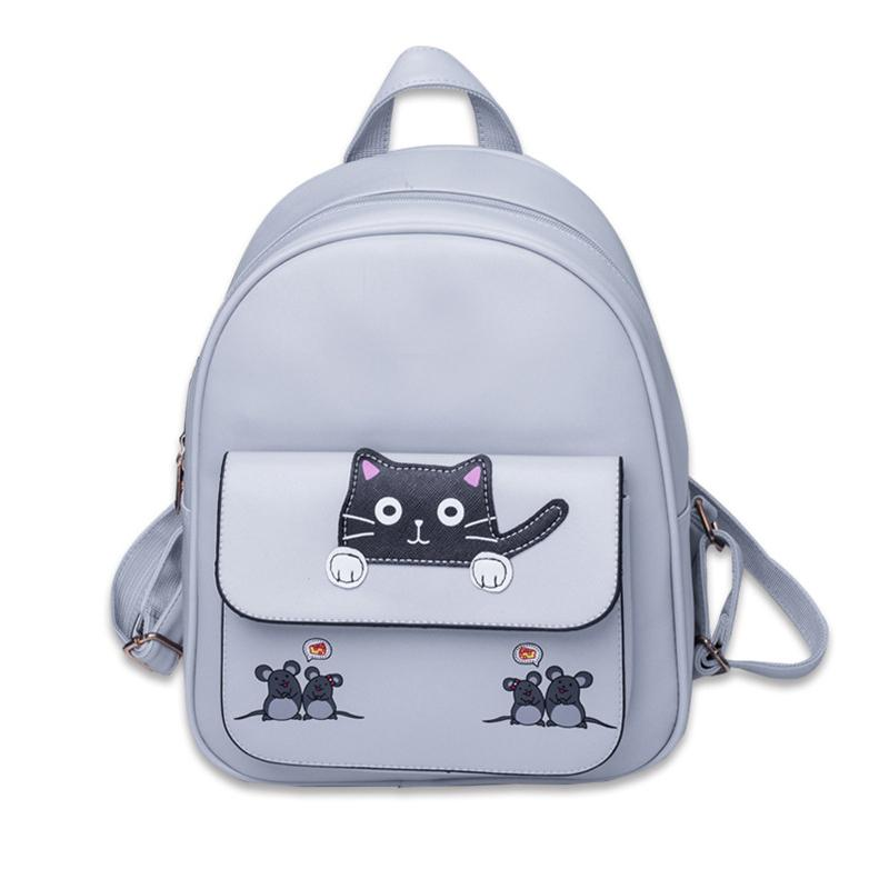 7db7a9541cb2 Women Travel Backpack Preppy Style Cartoon Cat Schoolbag Backpacks For Teenager  Girls Back Pack School Bags Camo Backpack Batman Backpack From Paradise12