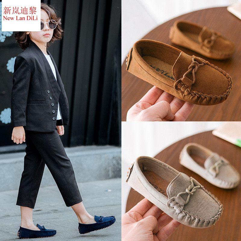 87b63934 Compre Tamaño 21 35 Bebé Niño Zapatos Nuevos Primavera Verano Niños Suave  De Cuero De La PU Zapatos Casuales Niños Mocasines Niñas Mocasines Zapatos  A ...
