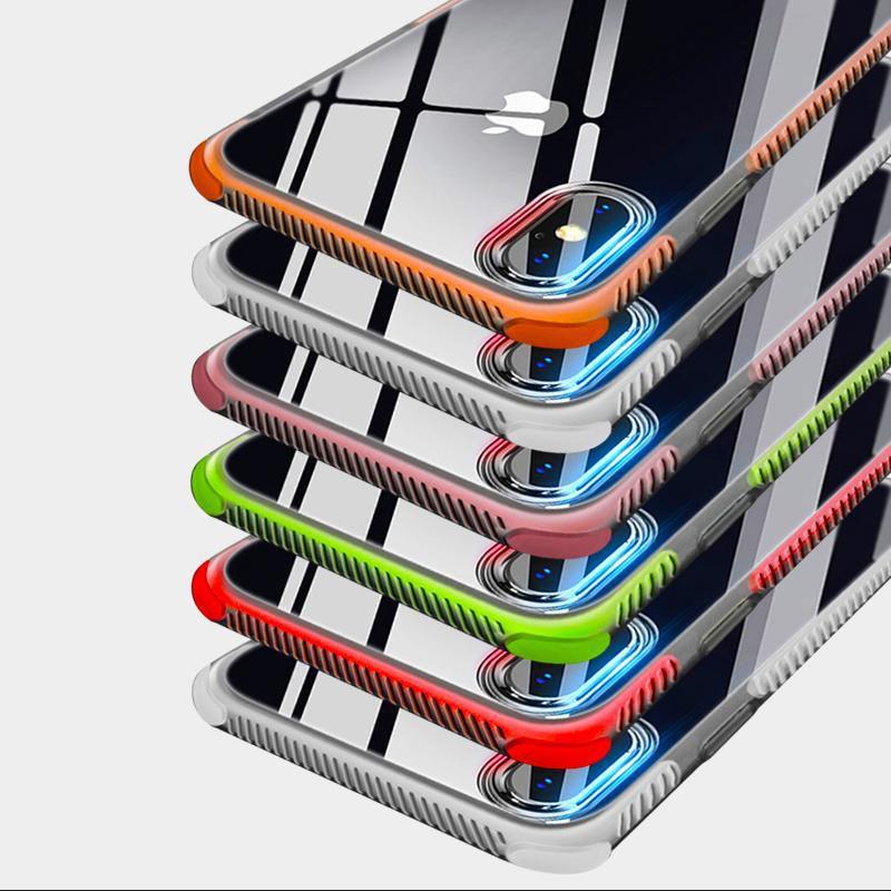 Ağır Hizmet Defender Sağlam Kauçuk Köşeler 2 1 Darbeye Şeffaf Sert TPU Kılıf Şeffaf Arka Kapak iPhone XS Max XR X 8 7 Artı 6 6S