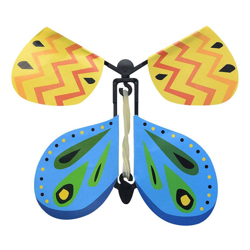 Fun Exclusive Magic Flying Butterfly Flyer 10cmx10cm Easy To Fly Magic Tricks Props Toys For Children Surprising Gift