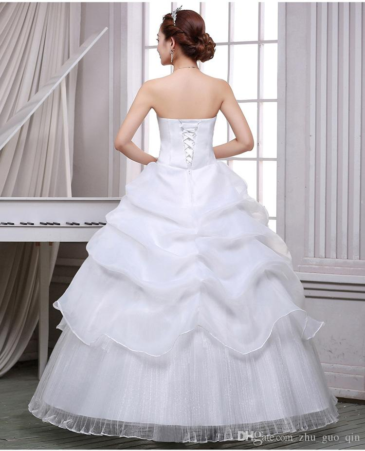 2017 New Arrive Korean Style Red fashion girl crystal princess bridal dress sexy Lace apparel style formal wedding dresses