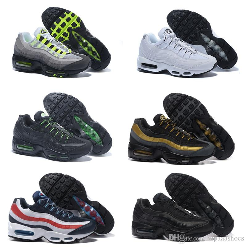hot sales 21782 de23b Großhandel Nike Air Max Airmax 95 VII Pure Money UNC Drop Shipping  Großhandel Top Quarity Laufschuhe Männer Kissen 95 Turnschuhe Stiefel  Authentic A02 New ...