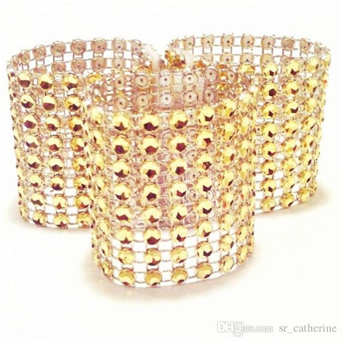 Shiny Crystal Napkin Rings Wedding Hotel Christmas Supplies napkin rings Party Table Decoration Gold Napkin Cloth Ring Wholesale