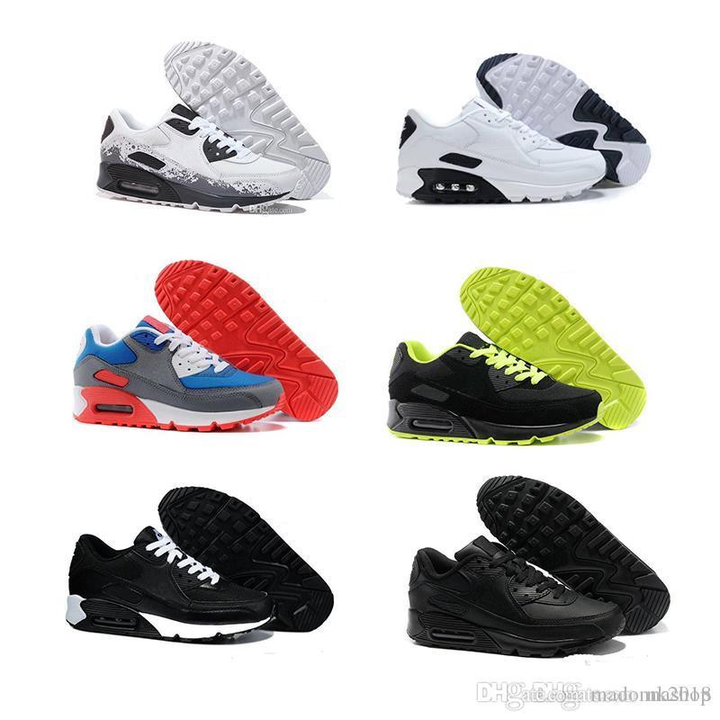 4c28d370 Compre Nike Air Max 2018 Homens Baratos Sapatilhas Sapatos Clássicos 90  Homens Tênis De Corrida Por Atacado Transporte Da Gota Esportes Trainer  Almofada De ...