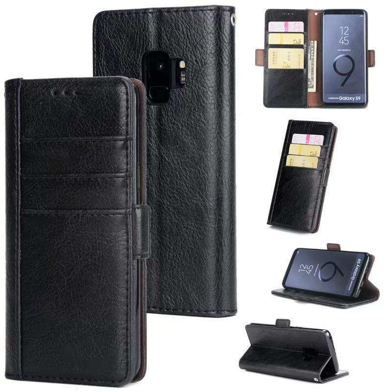 27ba999ec970 Flip Wallet PU Leather Case For Samsung Galaxy S8 S8 Plus S9 S9 Plus S7 S7  Edge Note 9 Note 8 Phone Bag 3 Card Slot Holder Stand Wholesale Cell Phone  Cases ...