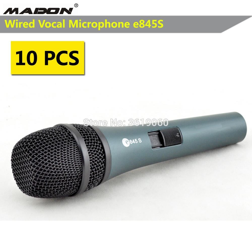 E845 With On/Off Switch Wired Dynamic Cardioid Professional Vocal ...