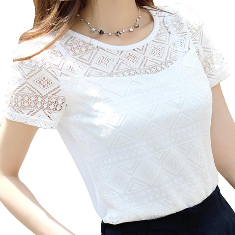 Summer Women Blouses Casual Lace Crochet Blouse Slim Sleeveless Blusas Feminina Tops Shirts Plus Size Moderate Price Women's Clothing