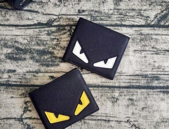 Kleine Monster Brieftasche Mode Farbe Auge Geldbörse Coole kurze Cash Lässige Note Fall Geld Notecase Leder Burse Tasche Cartoon Card Inhaber