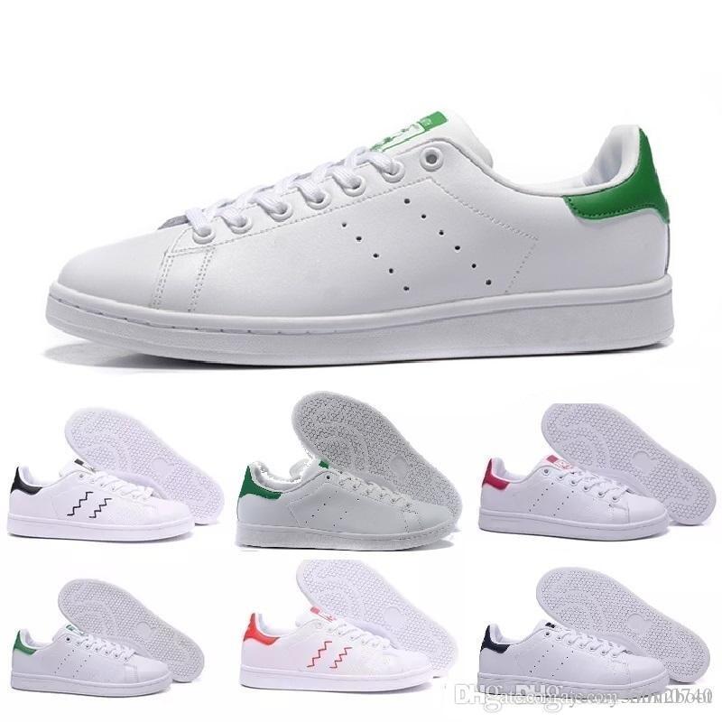 super popular 4b559 2732c Compre Adidas Stan Smith Los Nuevos Zapatos Stan De Calidad Superior De La  Moda De La Marca Smith Sneakers Casual Cuero Hombres Mujeres Zapatillas ...