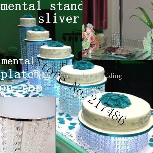 tall crystal with mental table top cake stand chandelier centerpieces for weddings
