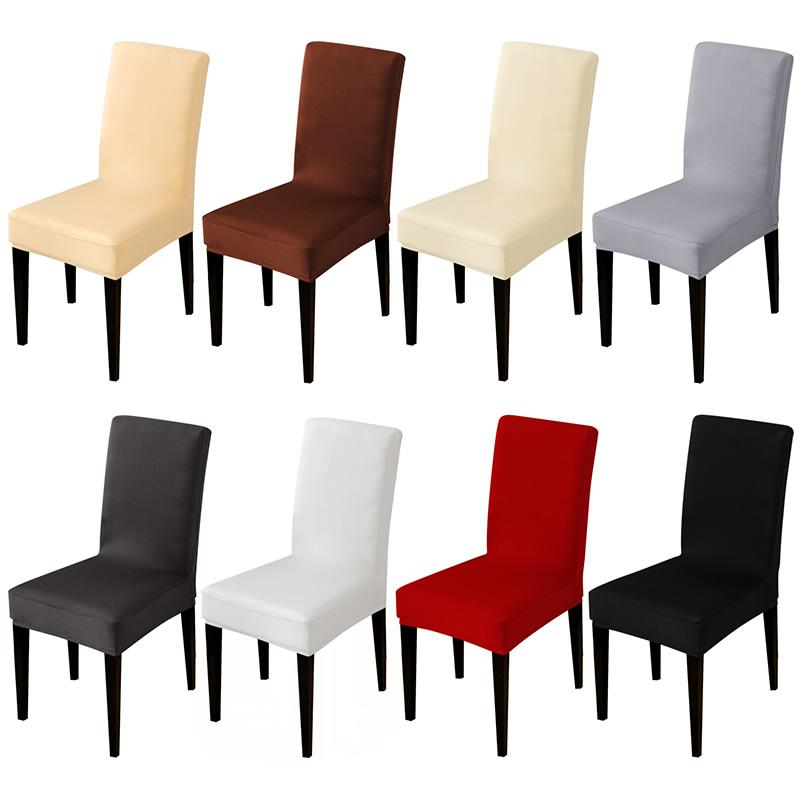 Solid Color Stretch Chair Cover Spandex Fabric Seat Chair Covers Restaurant  Hotel Party Banquet Slipcovers Home Decoration Event Rent Chair Covers ...