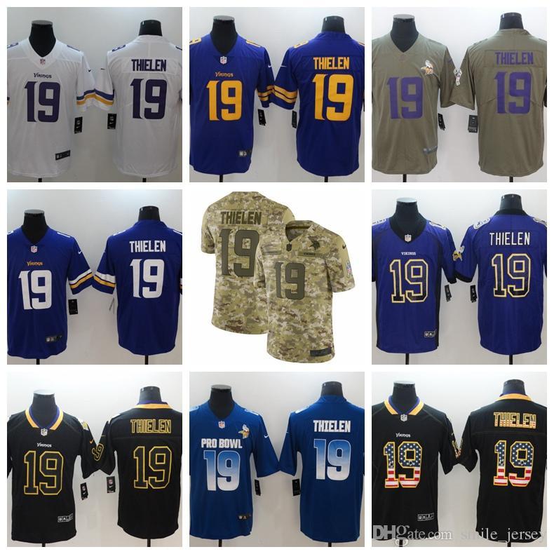 quality design 5f74a 9a6e2 New Mens 19 Adam Thielen Minnesota Jersey Vikings Football Jersey 100%  Stitched Embroidery Adam Thielen Color Rush Football Stitching Shirts