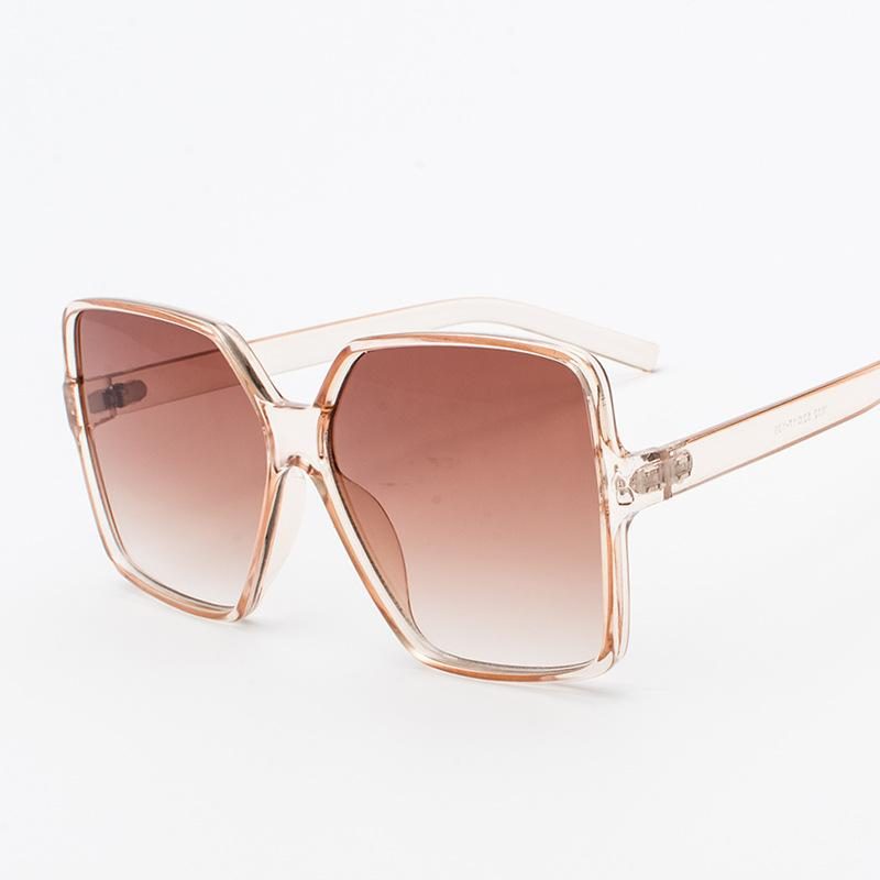 691b161481 2018 Sunglasses Oversize Women Sunglasses Large Frame Reflective ...
