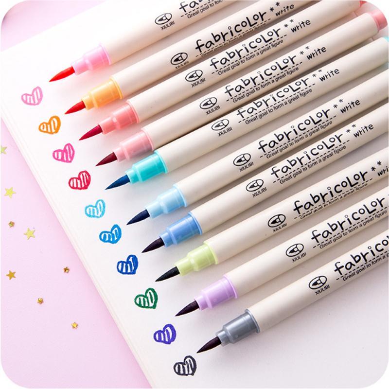 Compre 10 Pcs Lote Colorido Caligrafia Caneta Desenho Arte Caneta