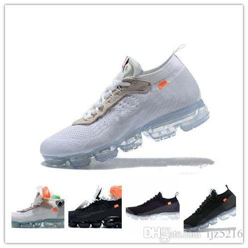 With Box2018 New Off Vapormax Running Shoes for Mens White Black ... f5af2b02b