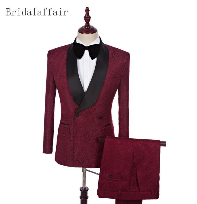 0807dbaa9c43 2018 Men Wedding Suit Male Blazers Slim Fit Suits For Men Best Man (Jacket+ Pants) Custom Made Business Formal Party Dinner Suits