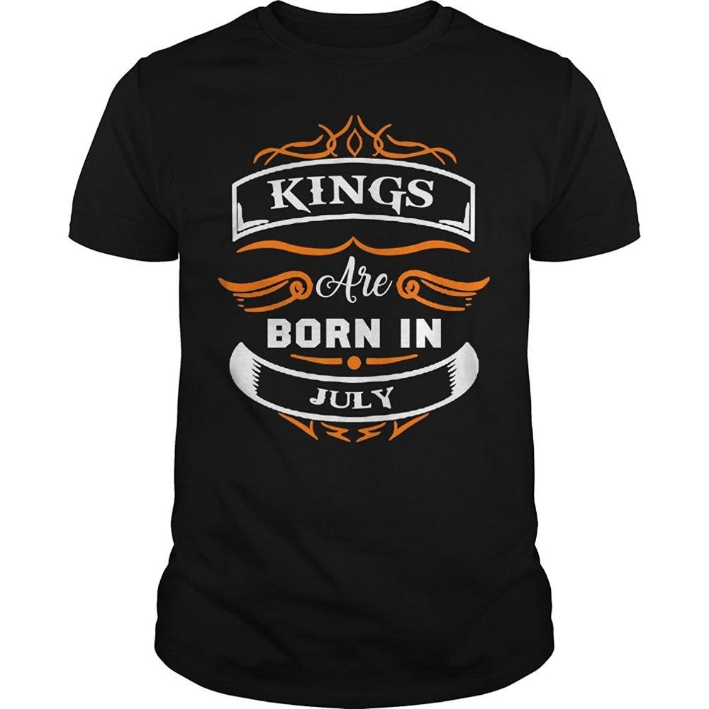 Kings Are Born In July T Shirt For Men Birthday Shirts Gifts Adults Casual Tee Online Designer From Eatopstore 242