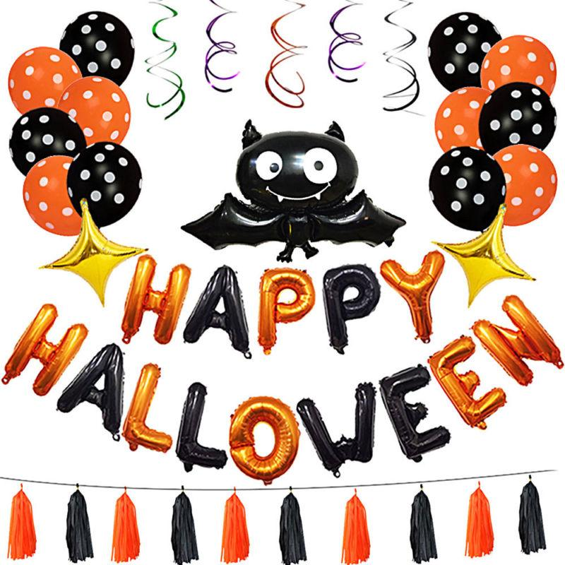 2018 halloween theme bat balloon party decoration club bar props