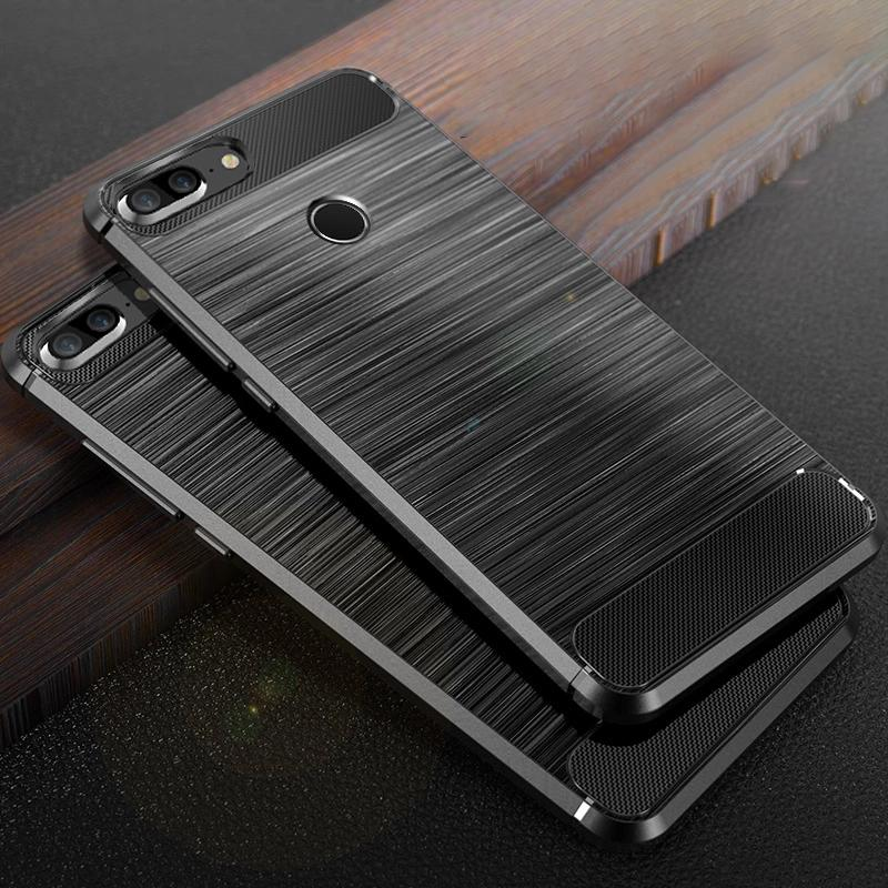 new arrivals 537ff 35088 Huawei Honor 9 Lite Case Honor9 Lite Carbon Fiber Bumper TPU Silicone  Protective Back Cover Shockproof for Huawei Honor9 Lite
