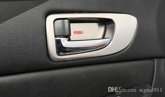 Qualität ABS-Chrom Auto Innentürgriff Dekoration Abdeckrahmen + Innentürgriff Schüssel für Mazda6 2003-2013