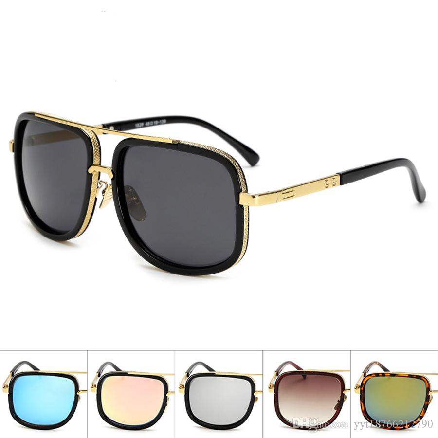 2018 New Fashion Classic Sunglasses Sunglasses Gold Frame Square Metal  Frame Vintage Style Outdoor Design Classical Mode With Box 07 Vintage  Sunglasses ...