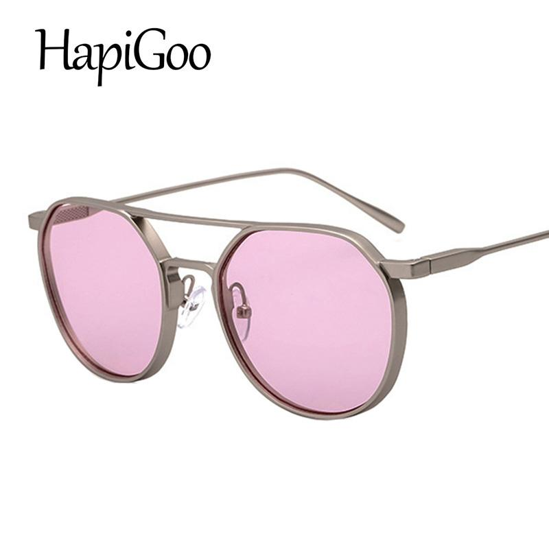 42ef0023c4 2018 Fashion Round Sunglasses Women Men Brand Designer Sun Glasses For Lady  Alloy Frame Female Oculos De Sol UV400 Baby Sunglasses Designer Eyeglasses  From ...