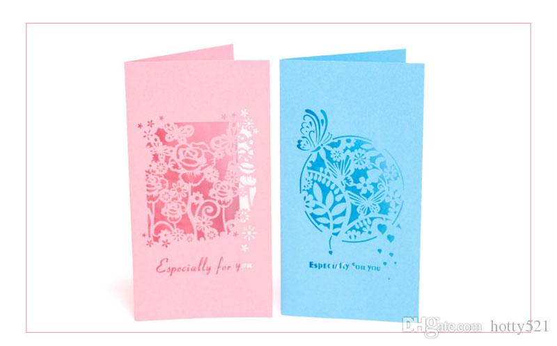 3D Thank You Card Valentine Day Greeting Cards Wedding Party Festive Event Supplies with envelope