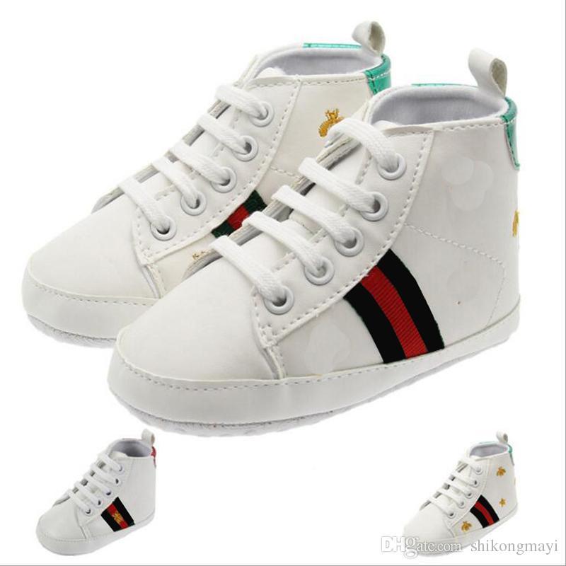 68761a6a07728 Acheter Détail 0 3 Mois Nouveau Né Bébé Chaussures Pu En Cuir Bébé Filles  Chaussures Premiers Marcheurs Prewalkers Pour Enfants Lit Bébé Garçon  Chaussures ...