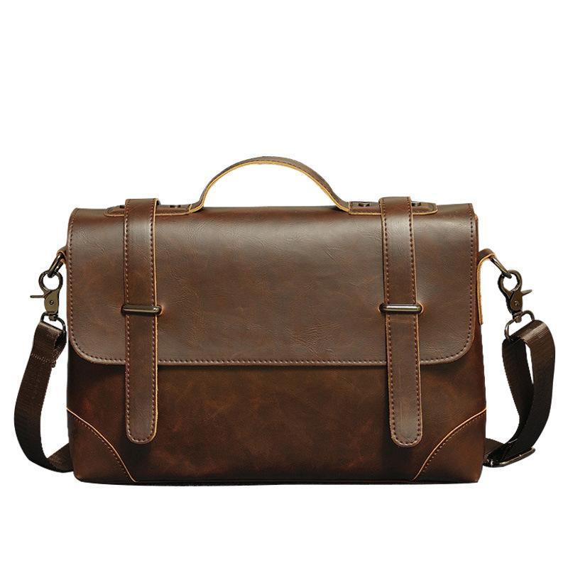 513d384534 New Men S Fashion Handbag Business Document Bag Elegant Men Cross Section  PU Leather Computer Satchel Shoulder Bag Briefcase Branded Handbags Womens  ...