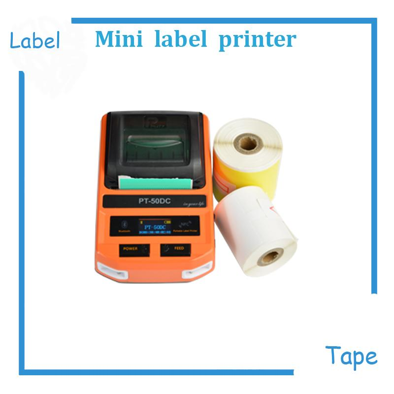 mini max 2 inch paper label tape printer machine print ribbon maker