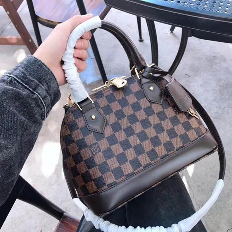 2dfc484590f0 New Fashion Shell Bag Women Real Leather Handbags Flower Embossed ...