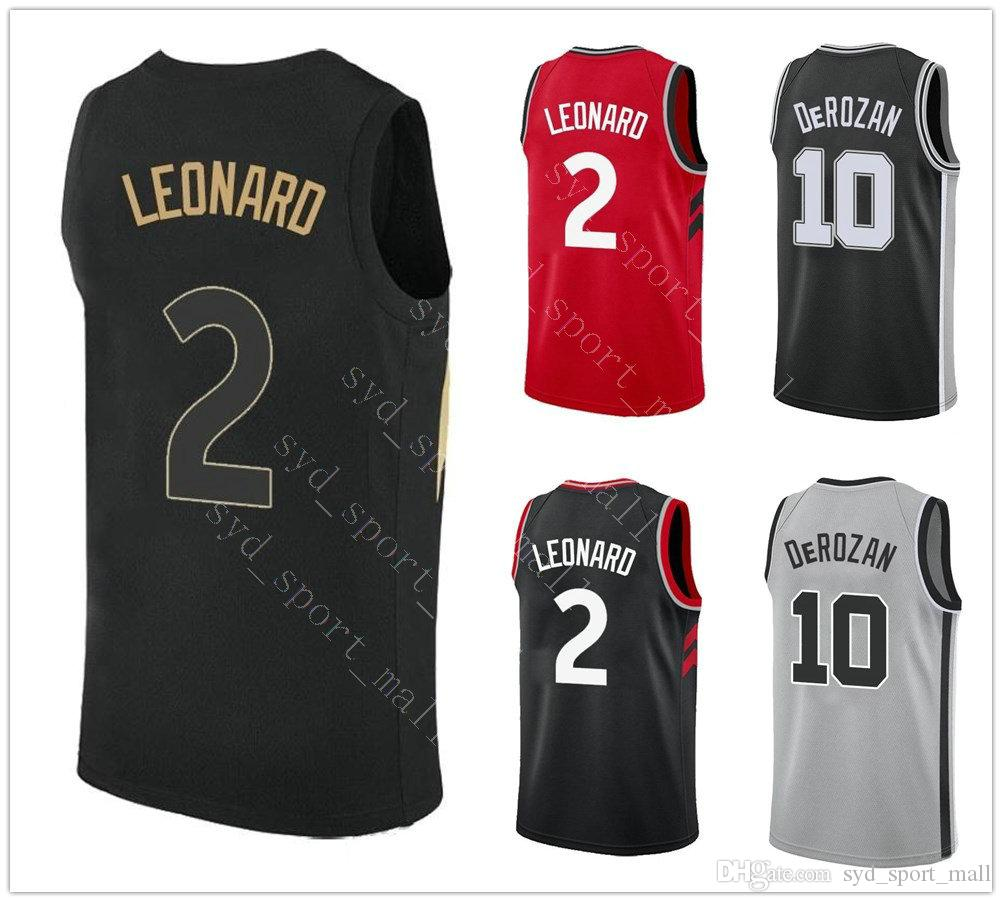26d0a112c ... the best attitude ee756 bb047 2018 2018 2019 New Season 2 Kawhi Leonard  Jerseys Basketball Black ...