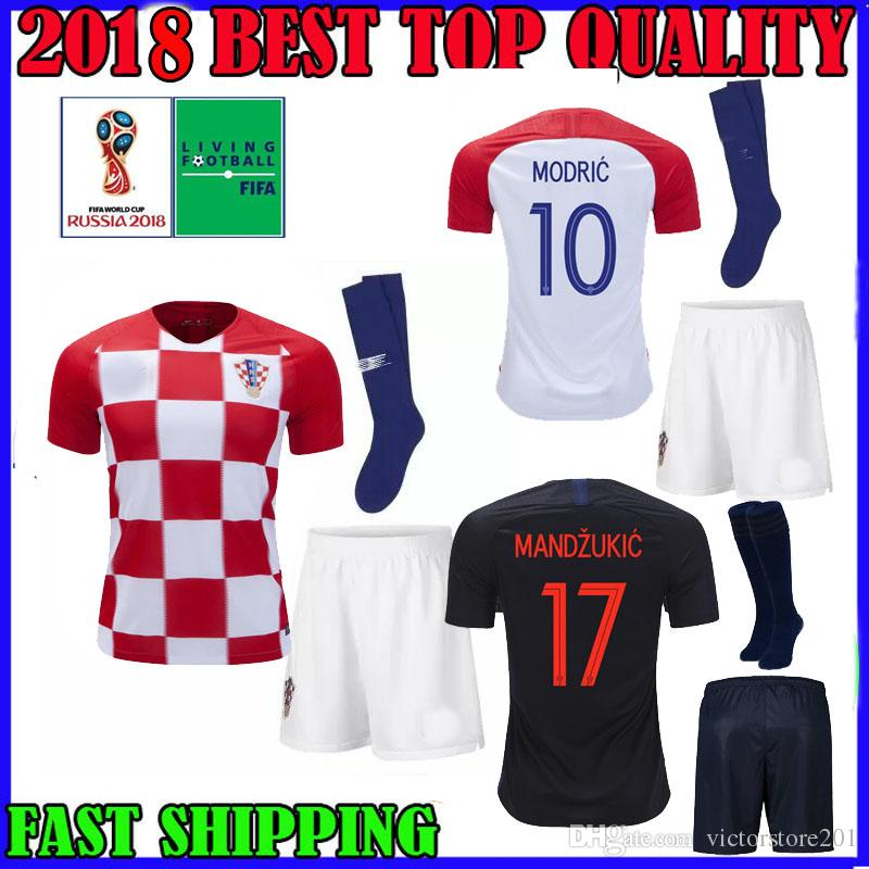 ad3e9eb96 World Cup 2018 Croatiaes Adult Kit Soccer Jersey Home Away 18 19 ...