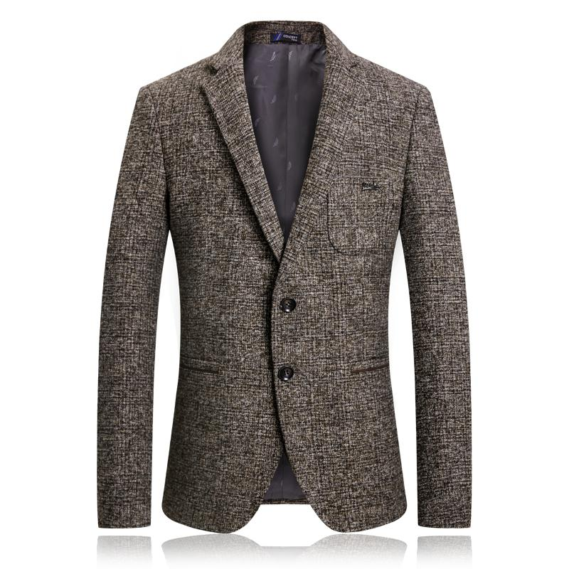 a753d3add5bbb9 2019 Autumn Winter Mens Blazer Jacket Men Cotton Business Single Breasted Blazer  Mens Casual Pockets Suit Male Coat Masculino From Xiayuhe, $73.8 | DHgate.