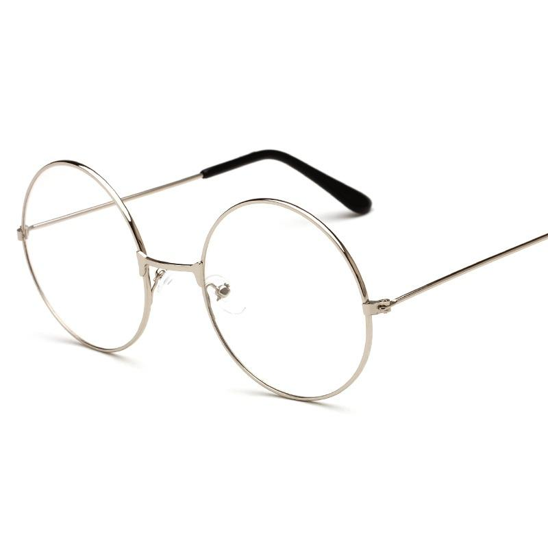 d07342ec45c7 New Fashion Harajuku Retro Round Glasses Frame Women Metal Eyeglasses  Optical Prescription Lens Vintage Famous Top Plain Mirror Prescription  Glasses ...