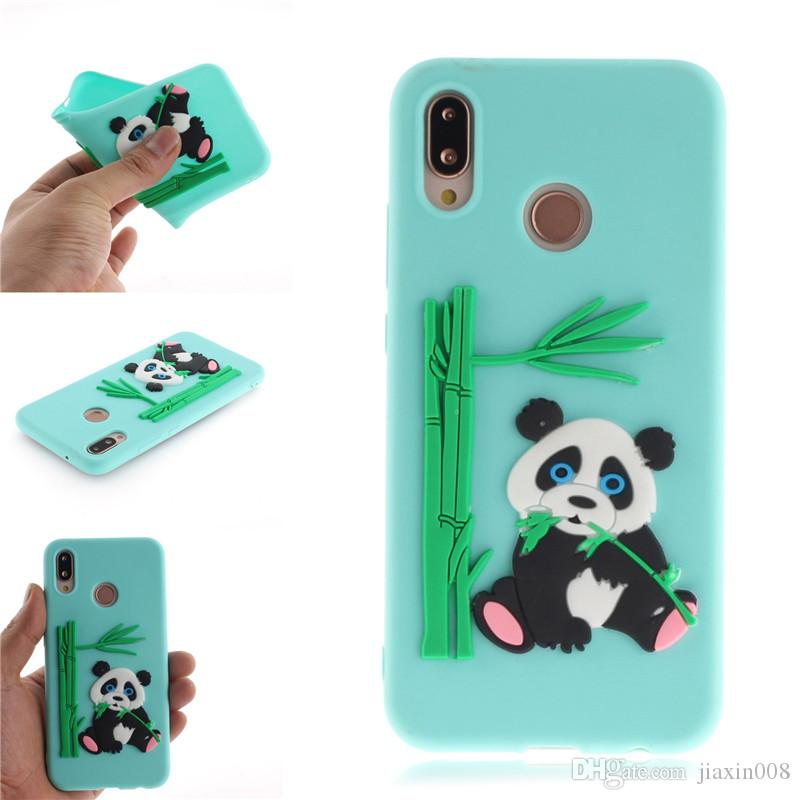 new arrivals a506f fe9df Fashion Cover For Huawei P20 Lite/Nova 3E Case Coque Candy Silicone Panda  bamboo Soft silica gel Mobile Phone Cases Shell Covers