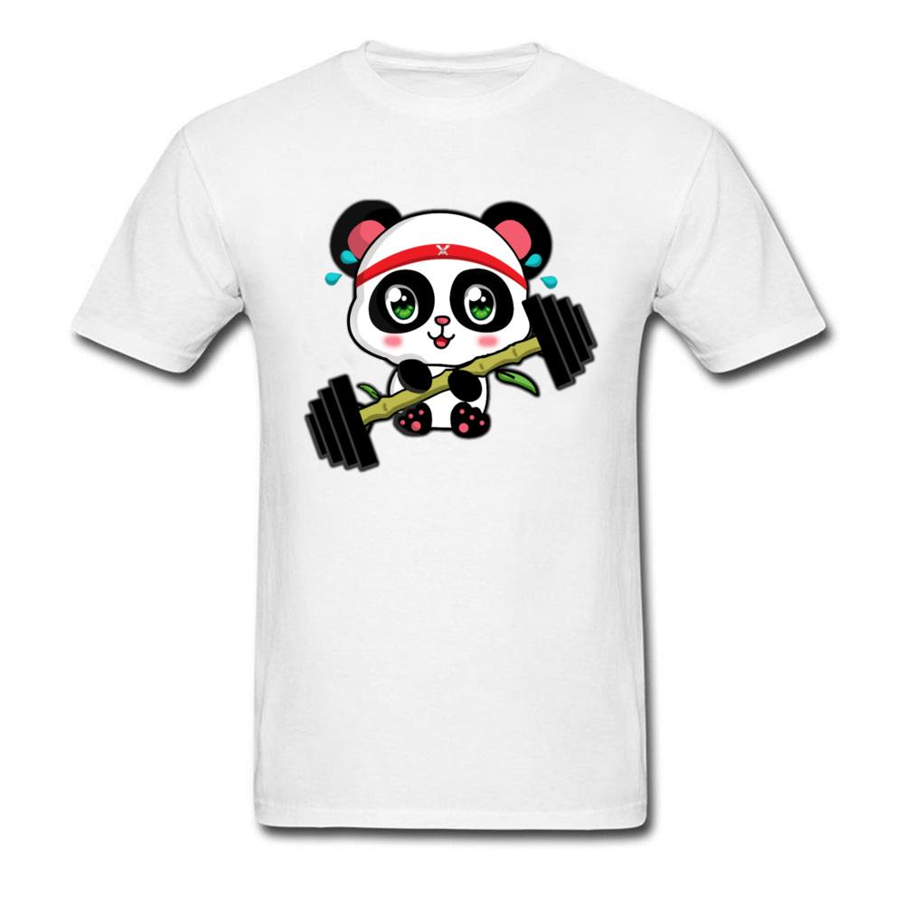 d18919f1ac2 Panda Bench Workout Shirt 2018 Cute Anime Cartoon T Shirts For Men Summer  Mens Barbell Printed Tshirt Fun Clothing Long Sleeve Shirts Men Shirts From  ...