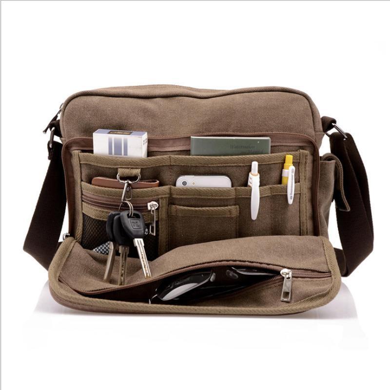 15c28605b54f 2018 New Vintage Casual Men Messenger Bag High Quality Canvas Travel ...