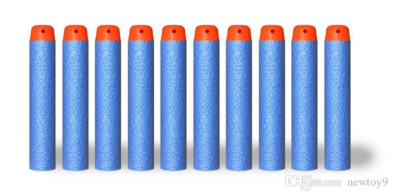 7.2cm For AR15 Elite Series Refill Blue Soft Foam Bullet Darts Gun Toy Bullet airsoft gun BB Gun Blue red green yellow black white
